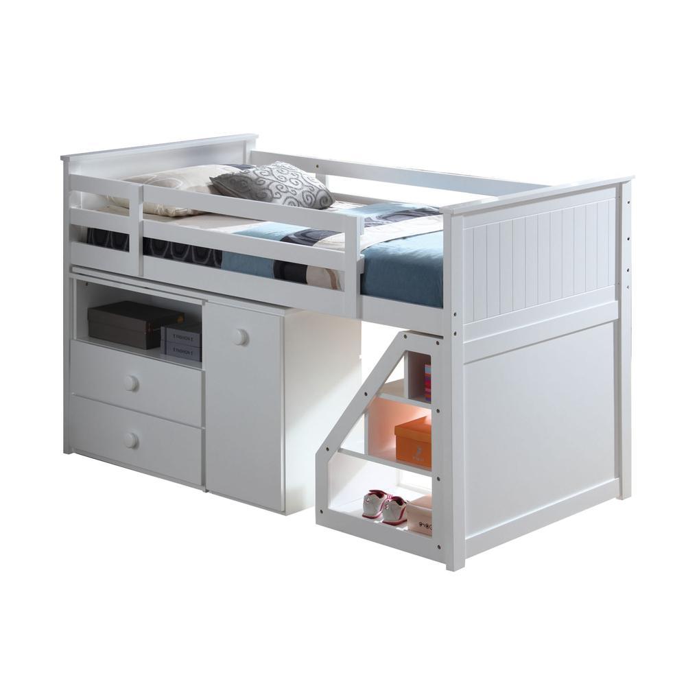 Wyatt Loft Bed, Chest, Desk & Ladder, White (1Set/5Ctn). Picture 2