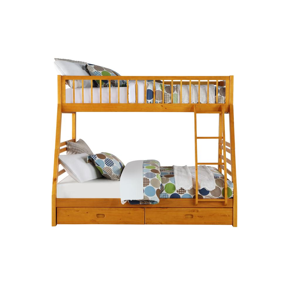 Jason Twin/Full Bunk Bed & Drawers, Honey Oak (1Set/2Ctn). Picture 3