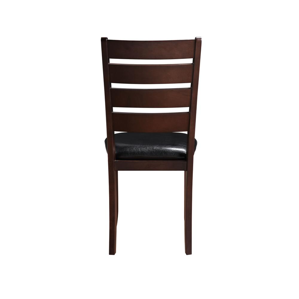 Urbana Side Chair (Set-2), Black PU & Cherry. Picture 3