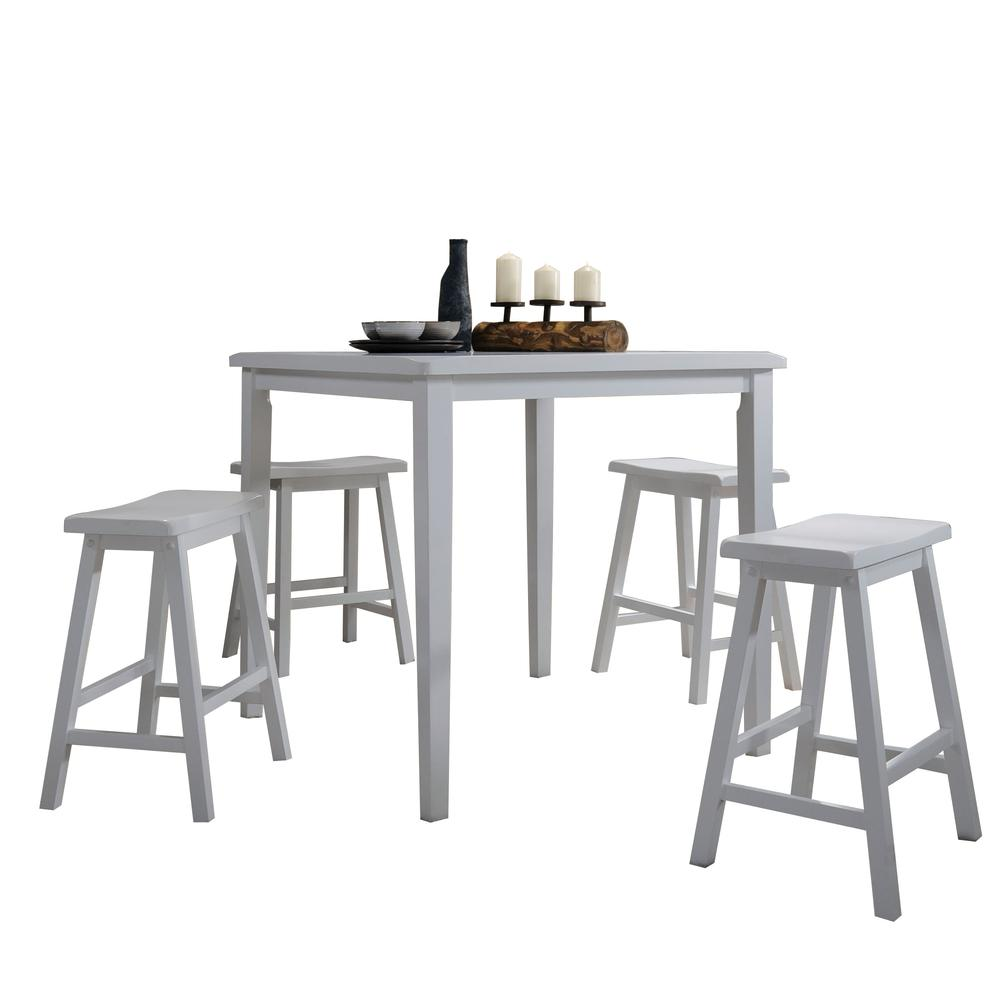 Gaucho 5Pc Pack Counter Height Set, Black. Picture 3