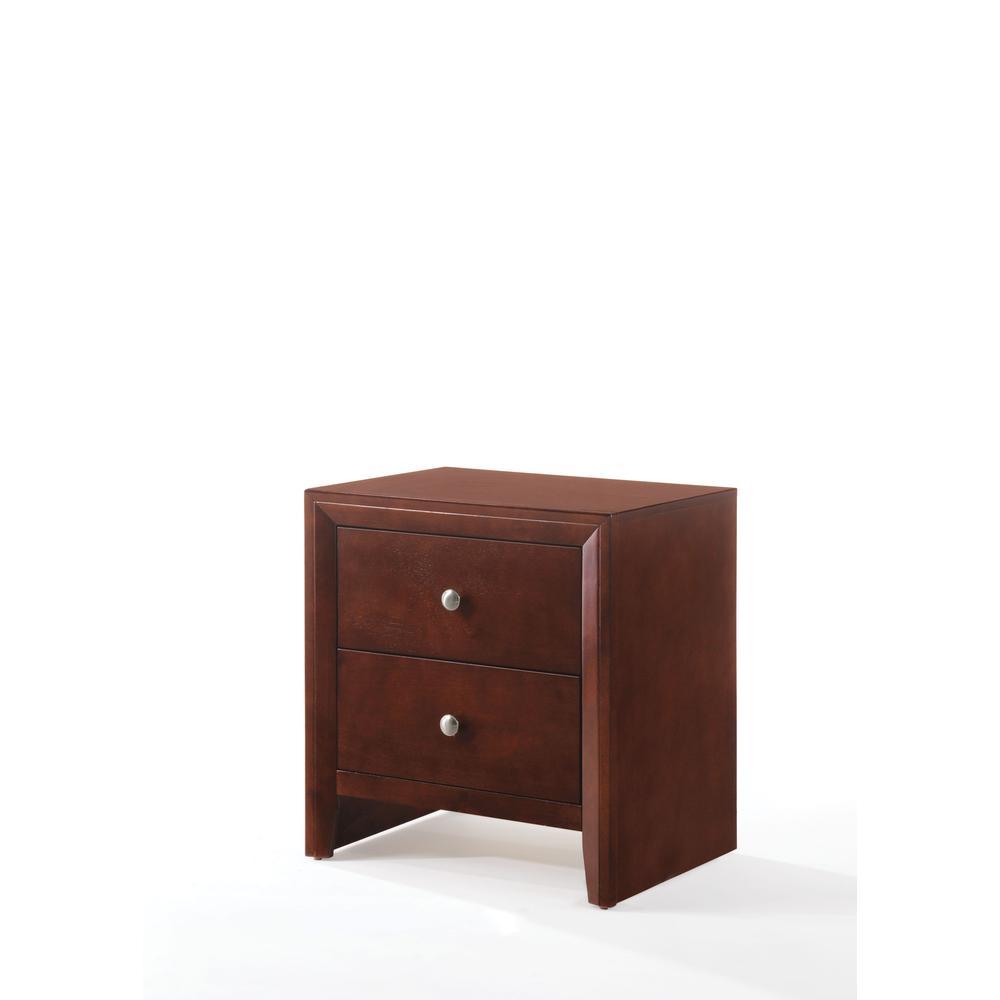 Ilana Queen Bed w/Storage, Brown PU & Brown Cherry, (1Set/3Ctn). Picture 7