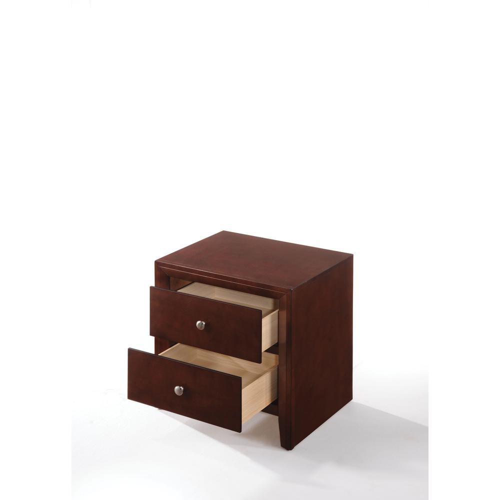 Ilana Queen Bed w/Storage, Brown PU & Brown Cherry, (1Set/3Ctn). Picture 10