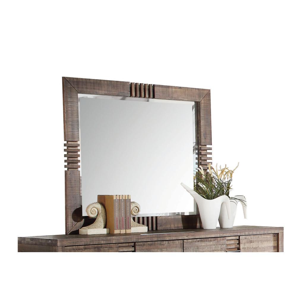 Andria Mirror, Reclaimed Oak. Picture 1