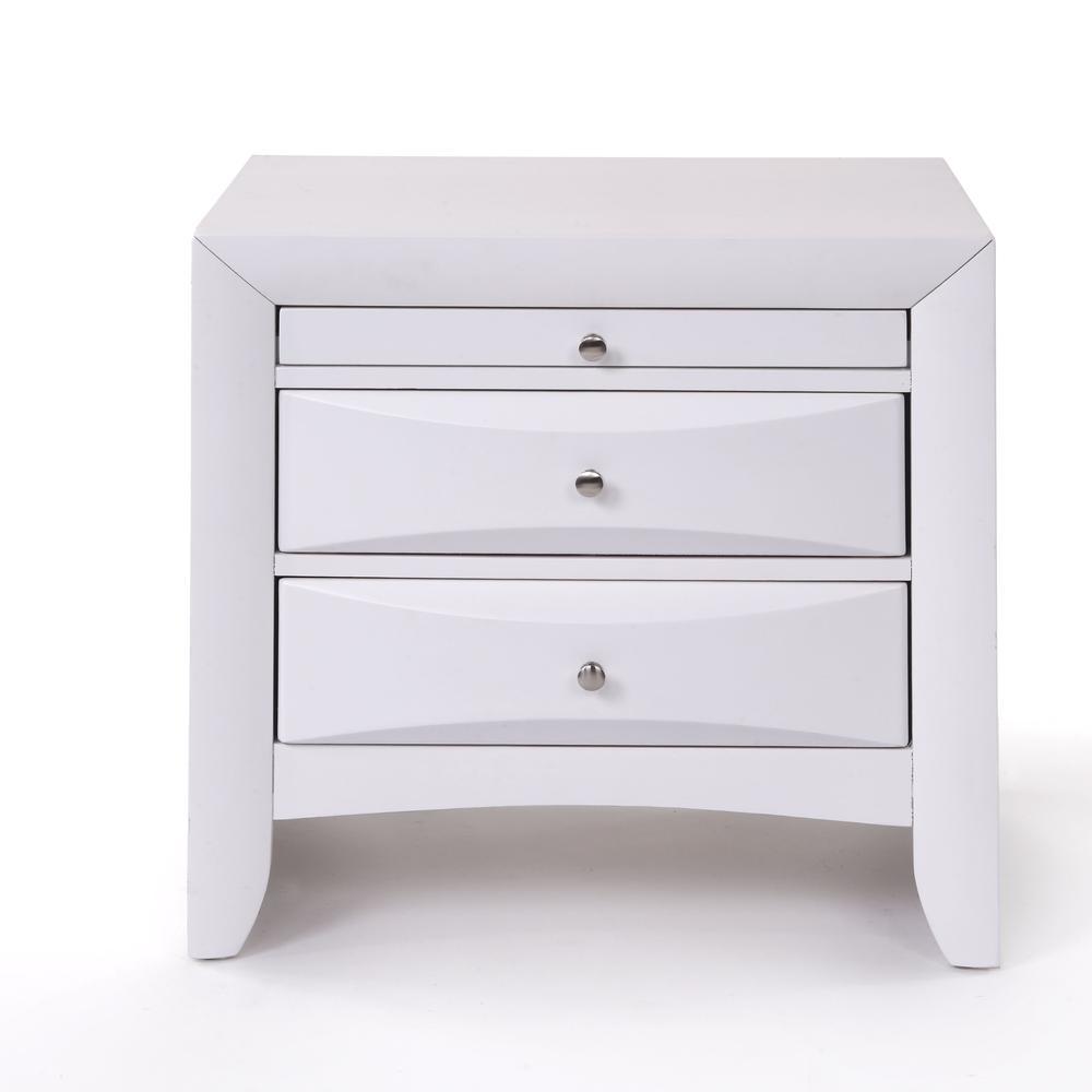 Ireland Queen Bed w/Storage, White (1Set/4Ctn). Picture 6
