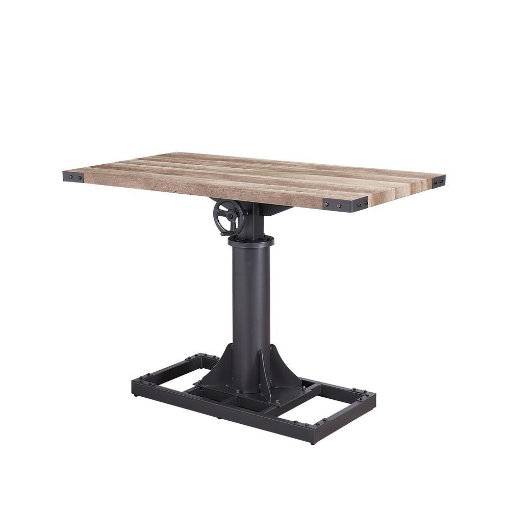 Baara Desk, Natural & Sandy Gray (1Set/2Ctn). Picture 1