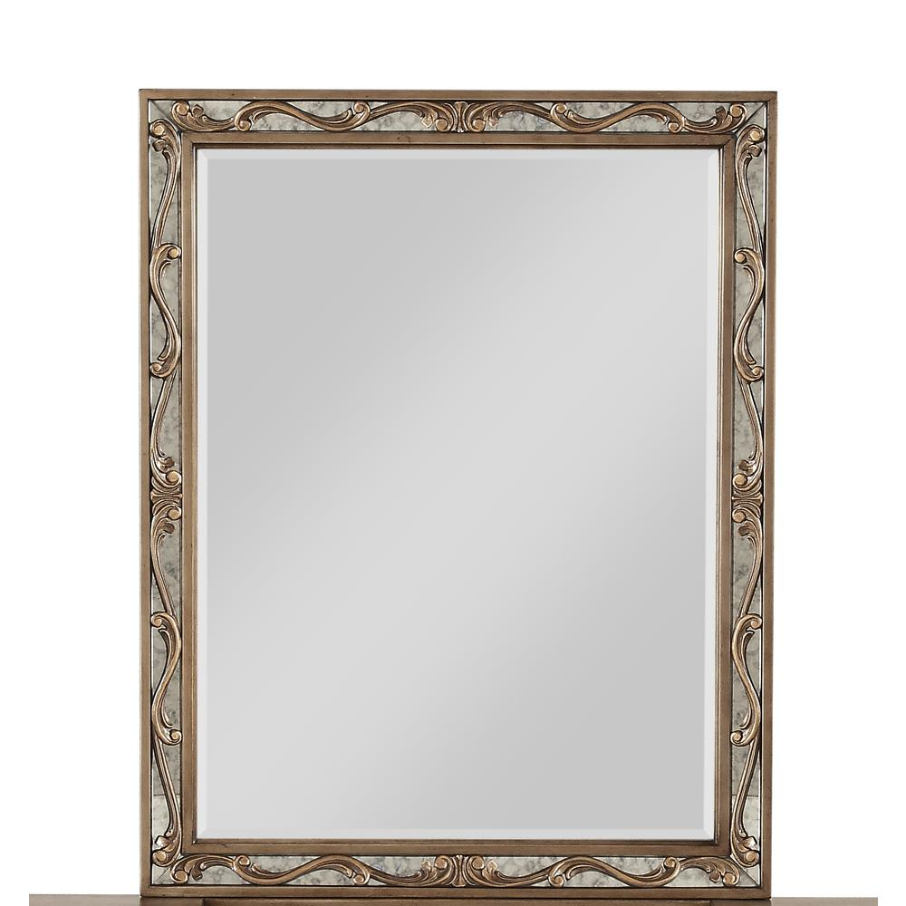 Orianne Vanity Mirror, Antique Gold. Picture 1