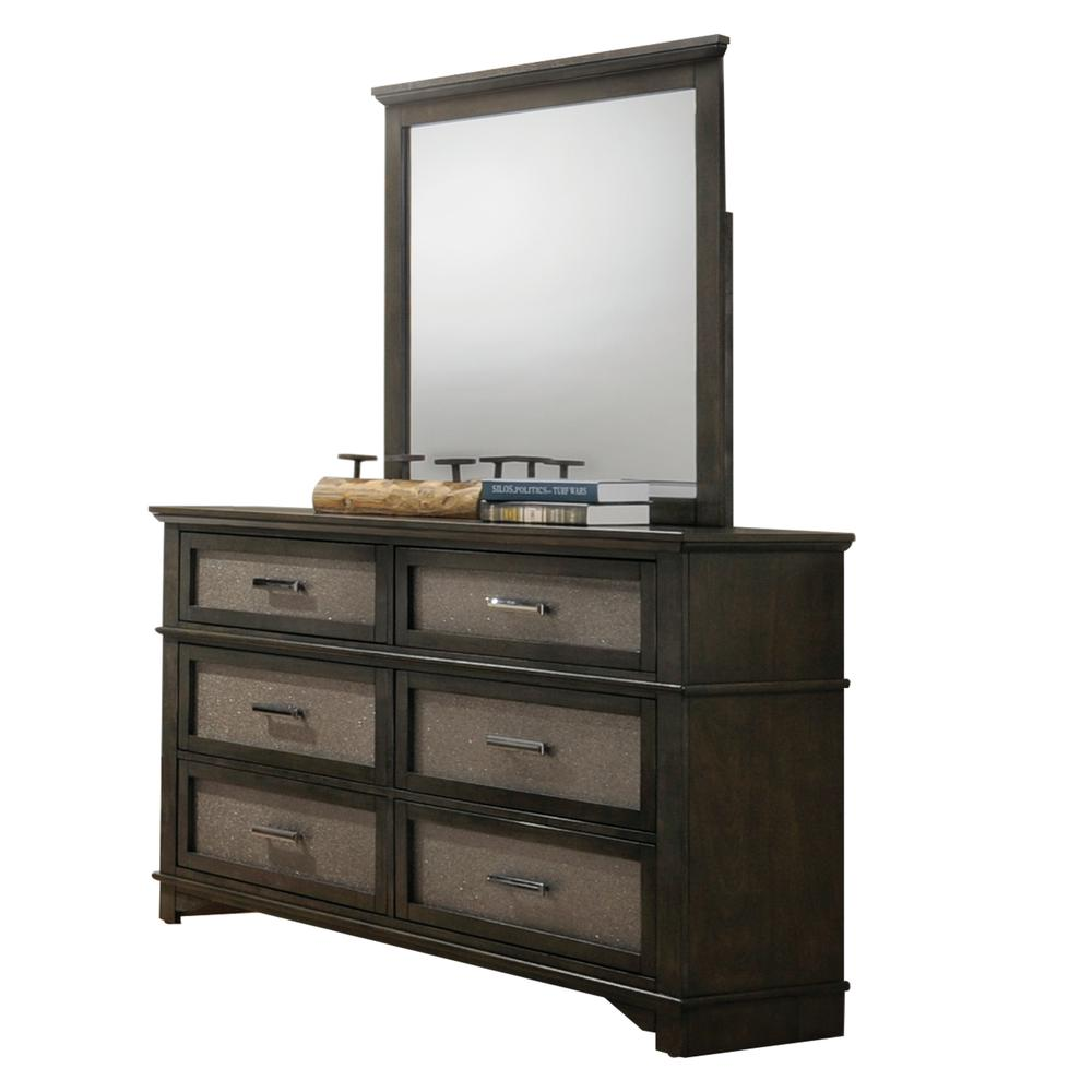 Anatole Mirror, Dark Walnut. Picture 1