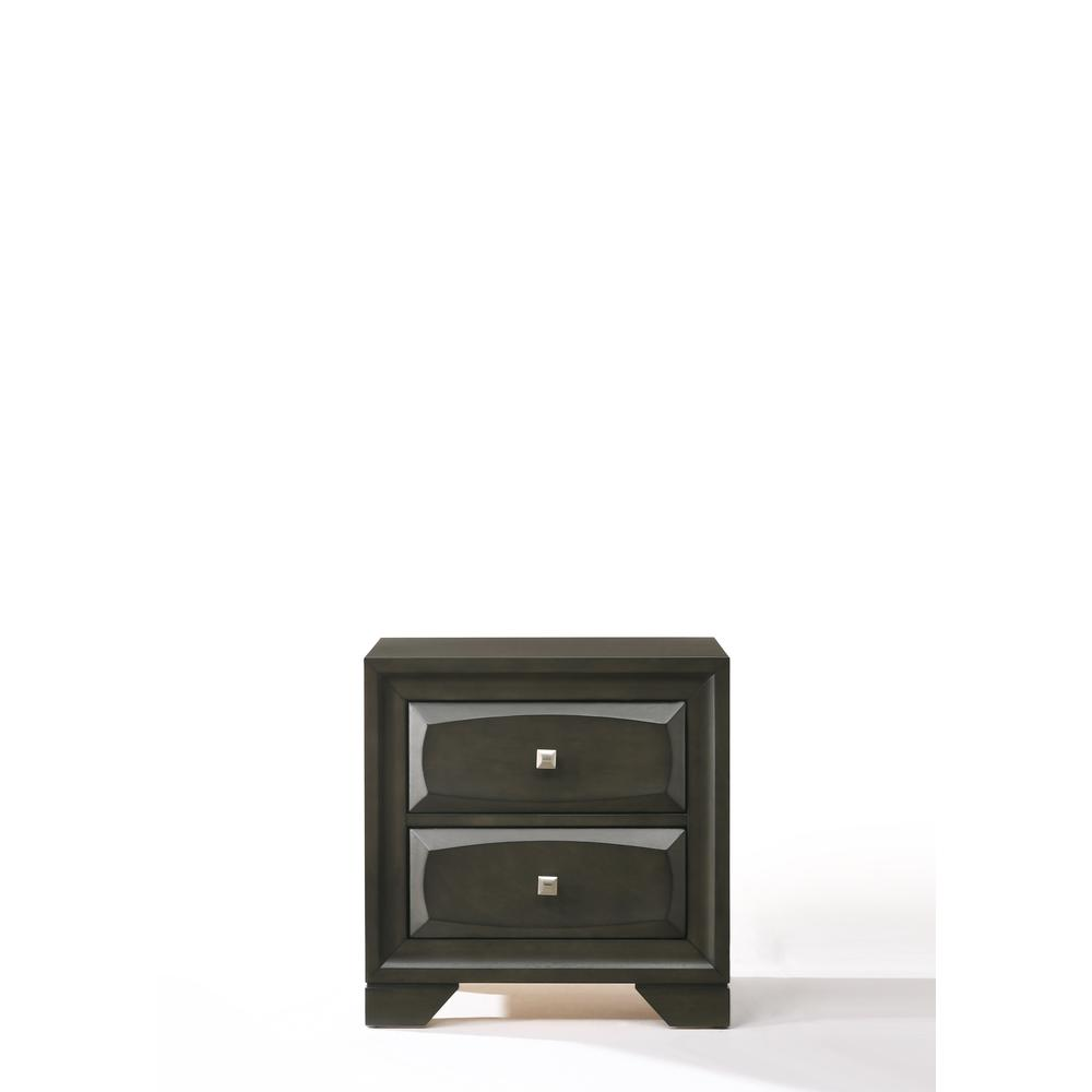 Soteris Nightstand , Antique Gray. Picture 3