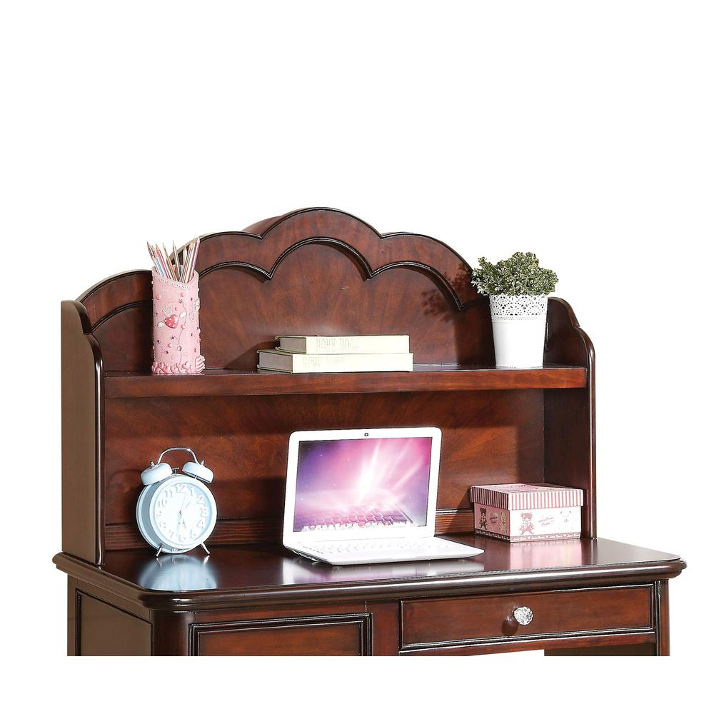 Cecilie Twin Bed, Light Pink PU & Cherry (1Set/3Ctn). Picture 9