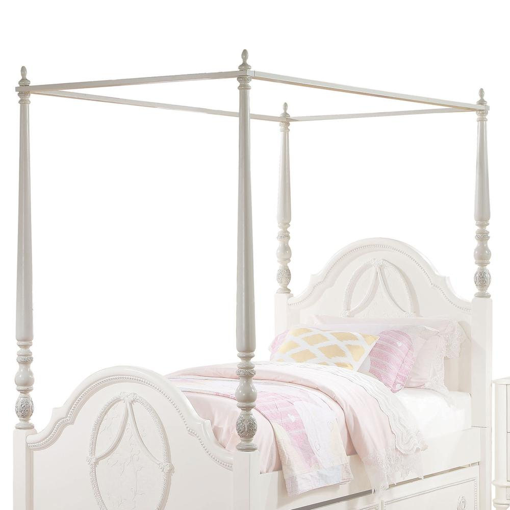 Dorothy Twin Bed (Padded), Pearl White PU & Ivory (1Set/3Ctn). Picture 4