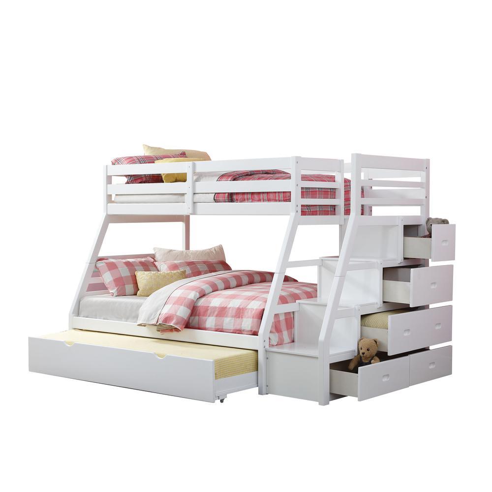 Jason Twin/Full Bunk Bed w/Storage Ladder & Trundle, Espresso (1Set/4Ctn). Picture 2