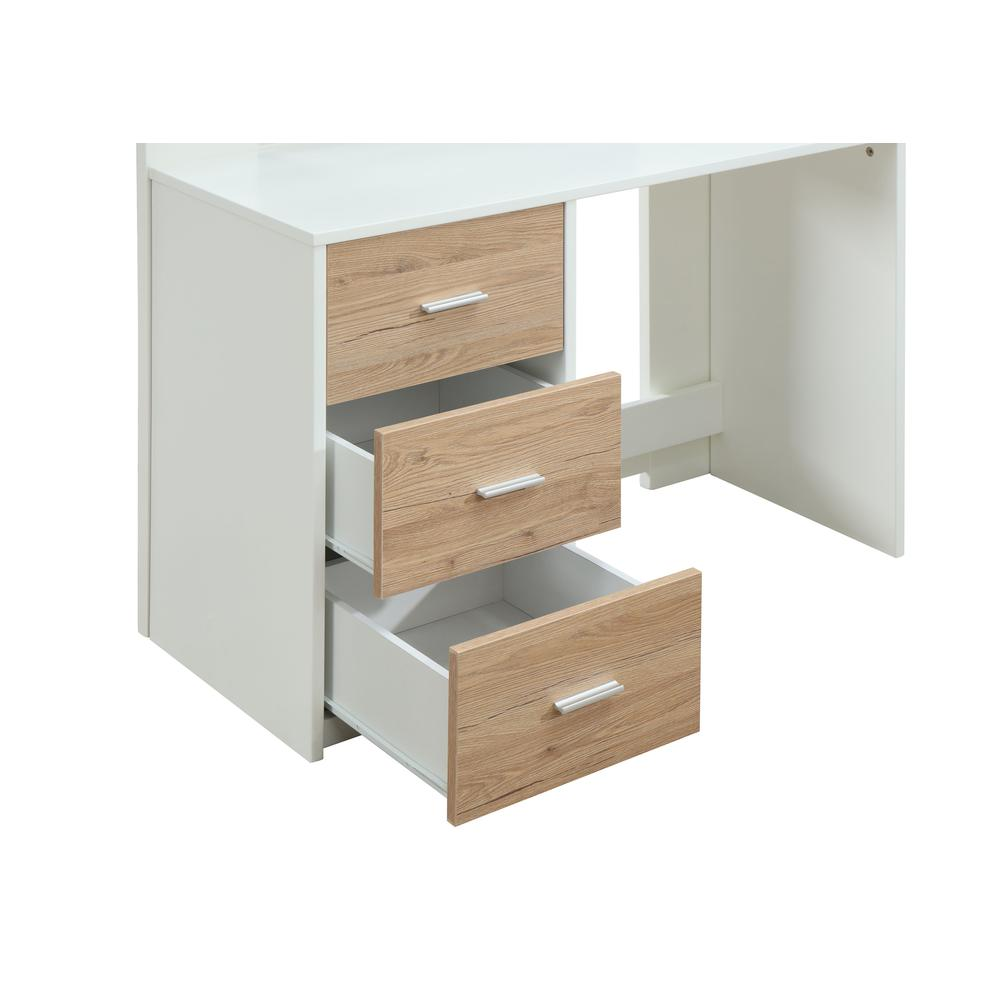 Nerice Loft Bed, White & Oak (1Set/5Ctn). Picture 6