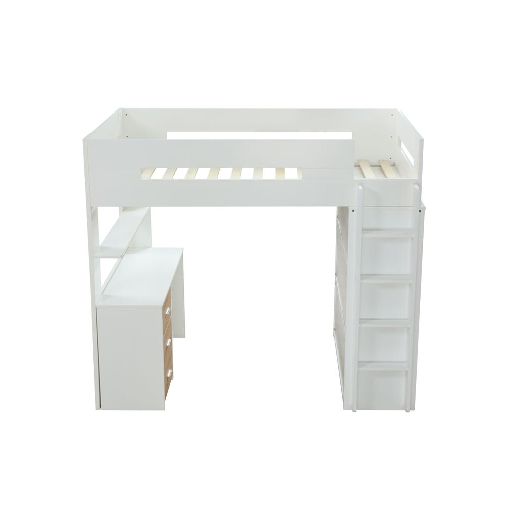 Nerice Loft Bed, White & Oak (1Set/5Ctn). Picture 9