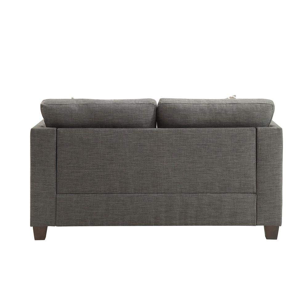 Laurissa Sofa w/4 Pillows, Light Charcoal Linen. Picture 8