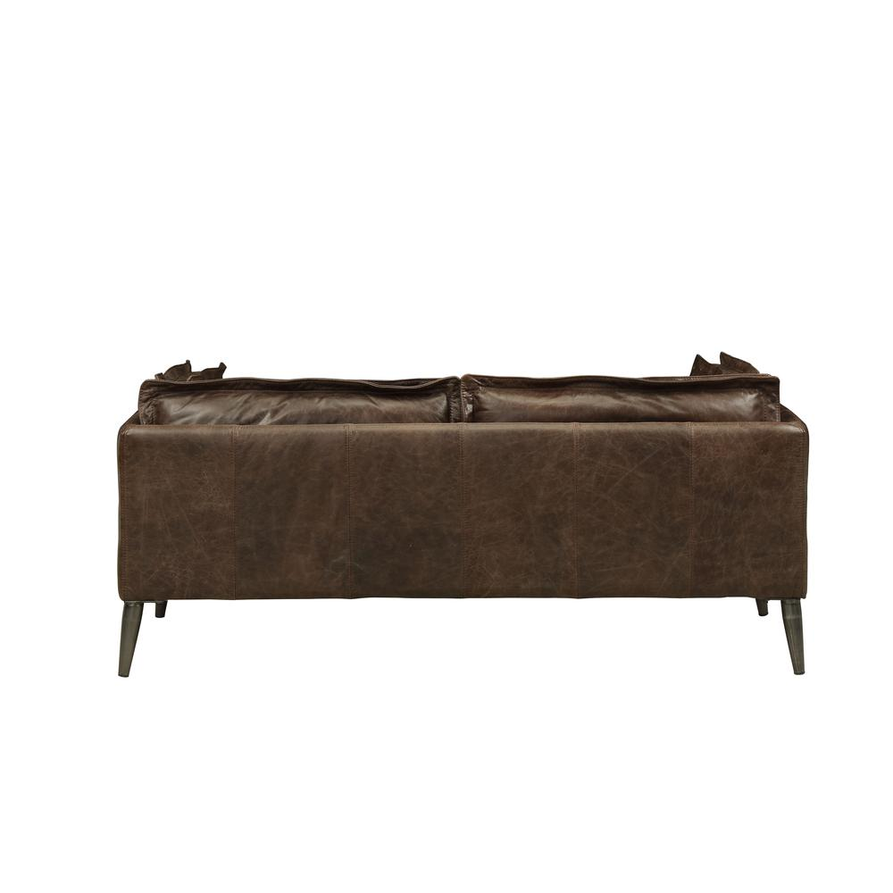 Porchester Loveseat, Distress Chocolate Top Grain Leather. Picture 2