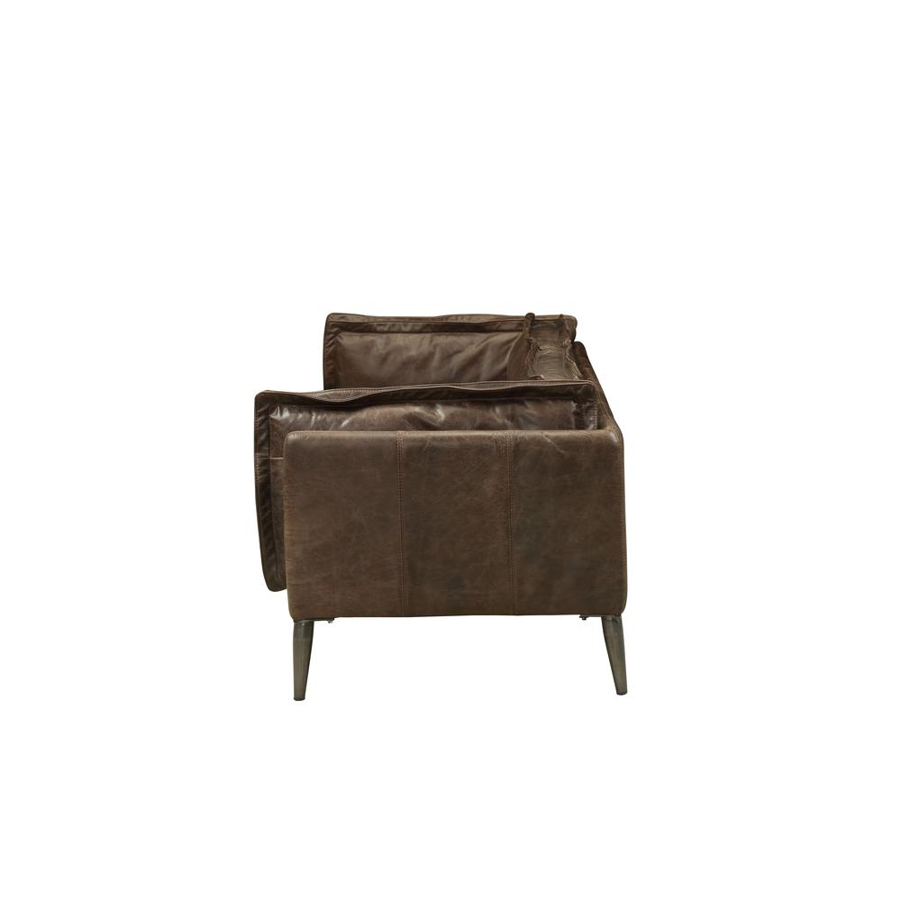 Porchester Loveseat, Distress Chocolate Top Grain Leather. Picture 3