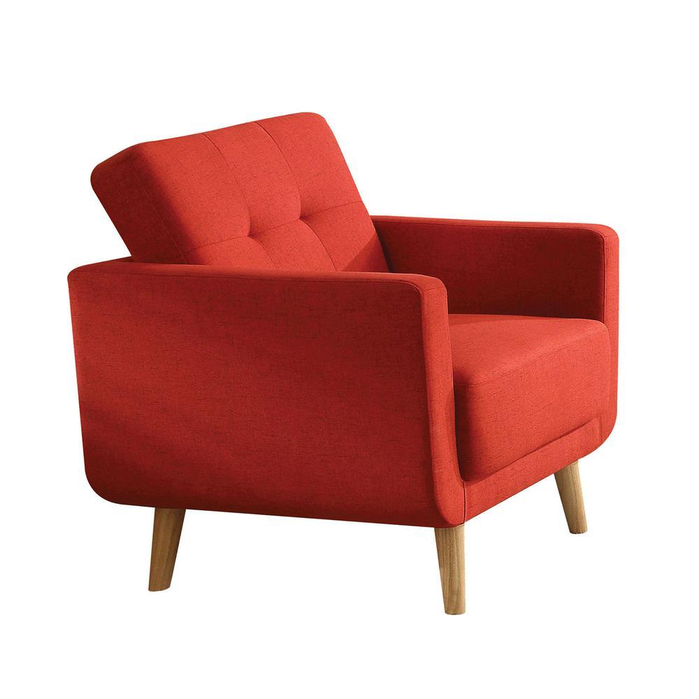 Sisilla Sofa, Red Linen. Picture 3