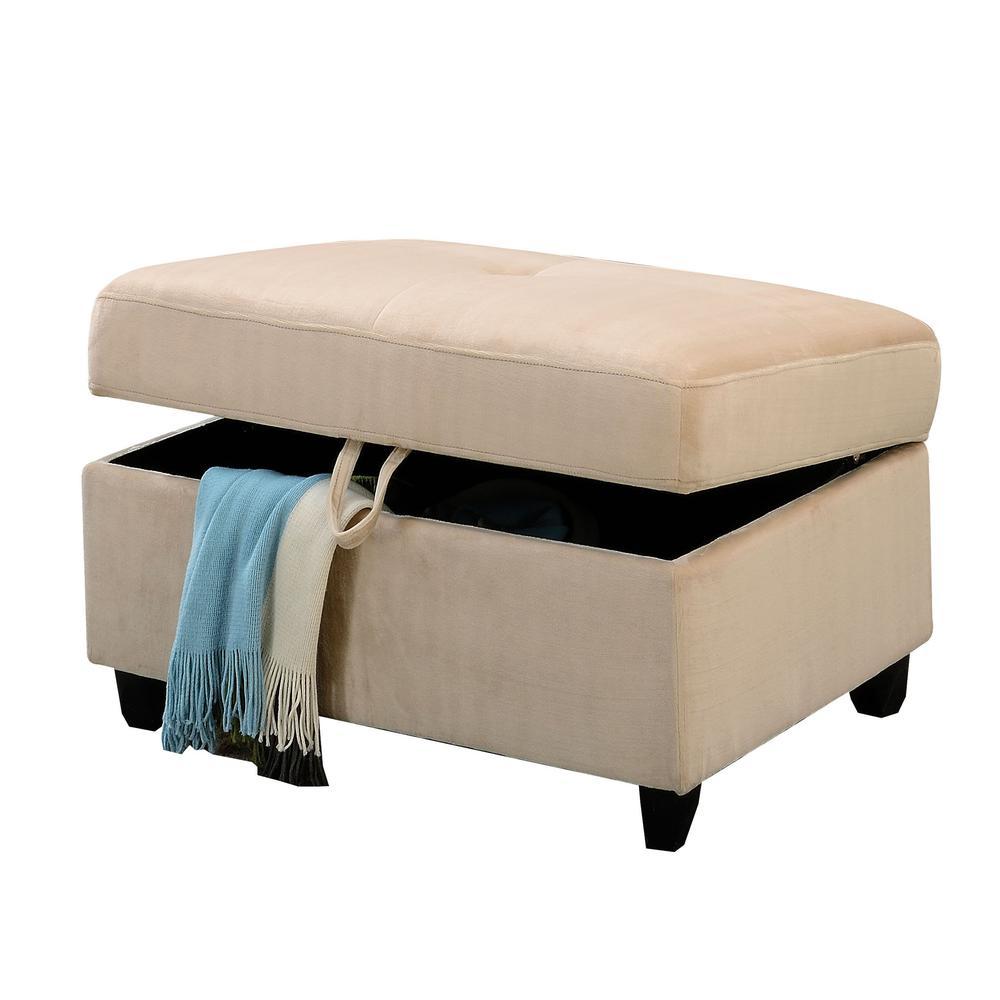 Belville Sectional Sofa w/Pillows (Reversible), Chocolate Velvet (1Set/2Ctn). Picture 4