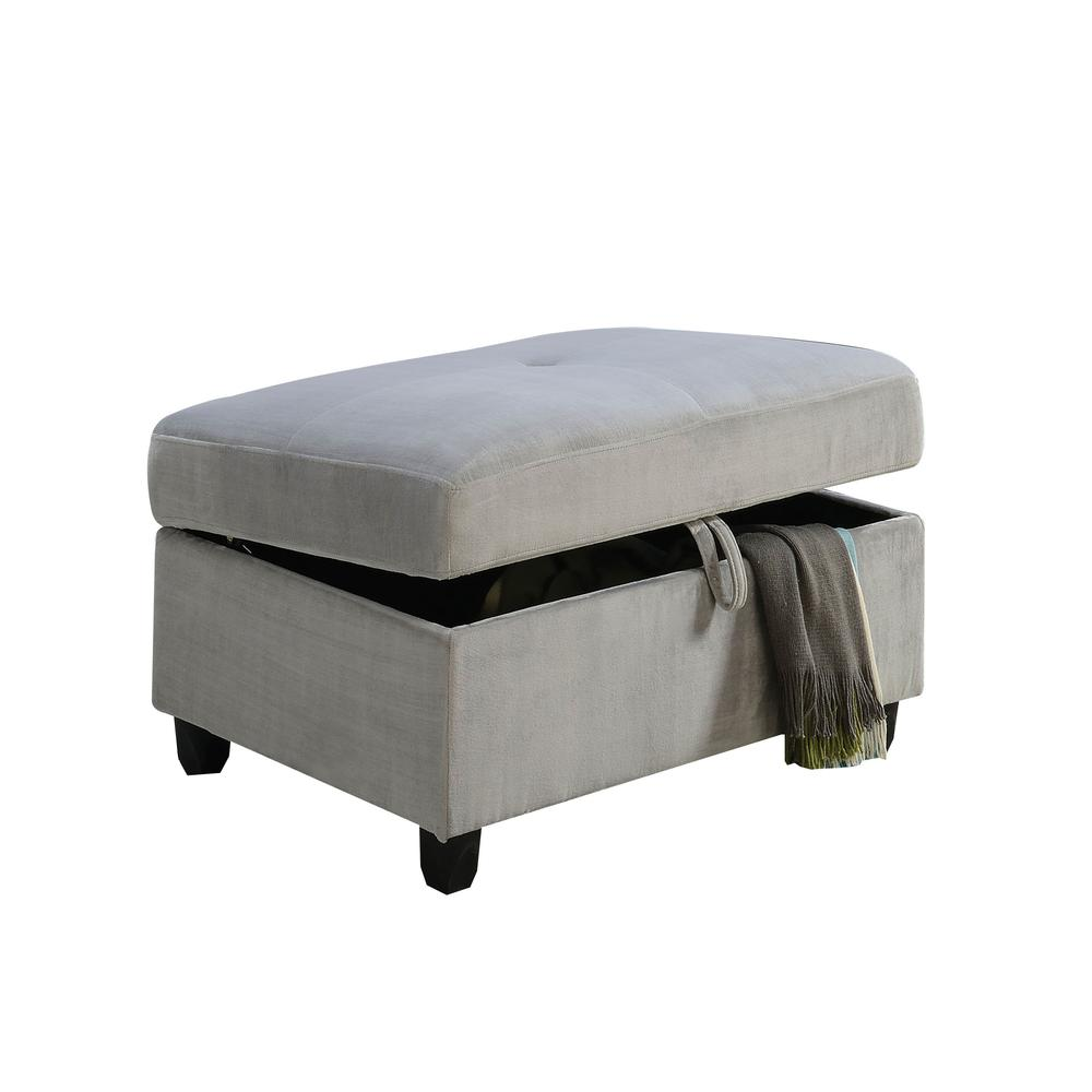 Belville Sectional Sofa w/Pillows (Reversible), Chocolate Velvet (1Set/2Ctn). Picture 6