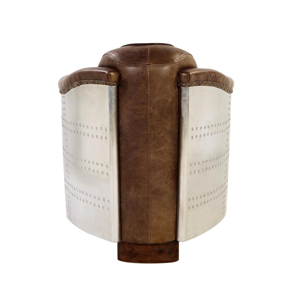 Brancaster Chair, Retro Brown Top Grain Leather & Aluminum. Picture 8