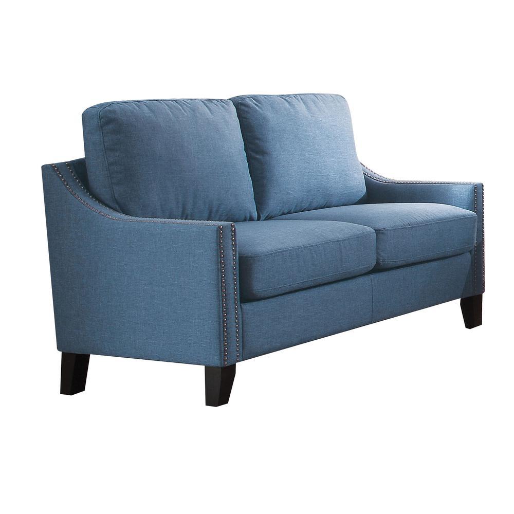 Zapata Sofa, Blue Linen. Picture 3