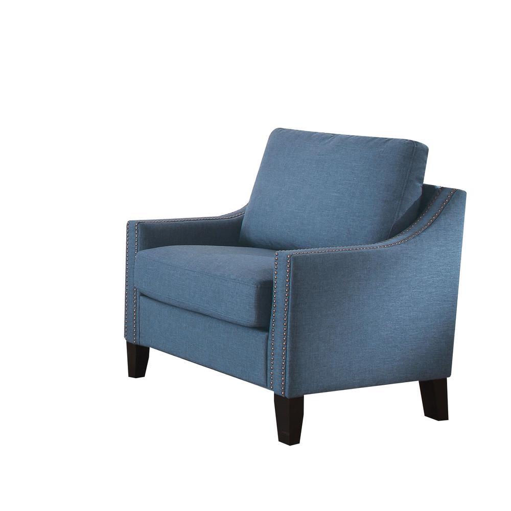 Zapata Sofa, Blue Linen. Picture 4