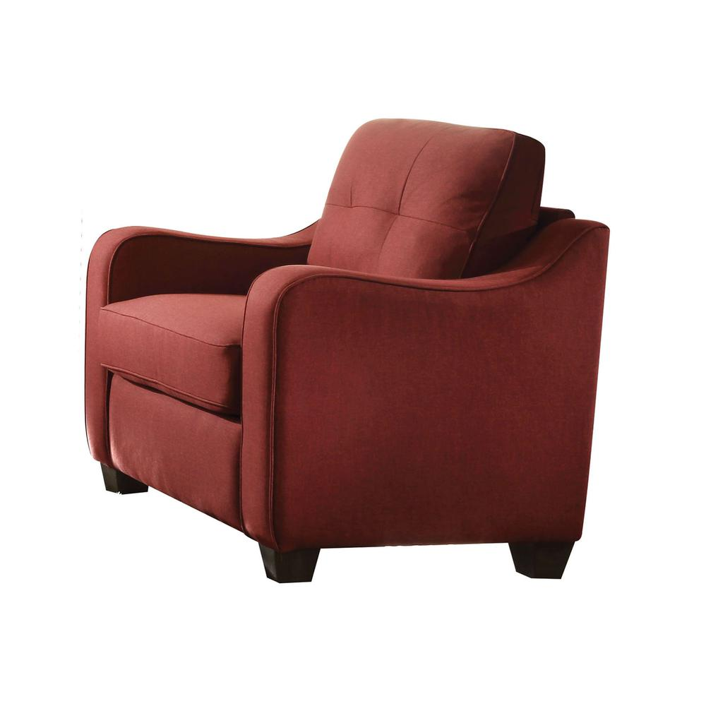 Cleavon II Chair, Red Linen. Picture 1