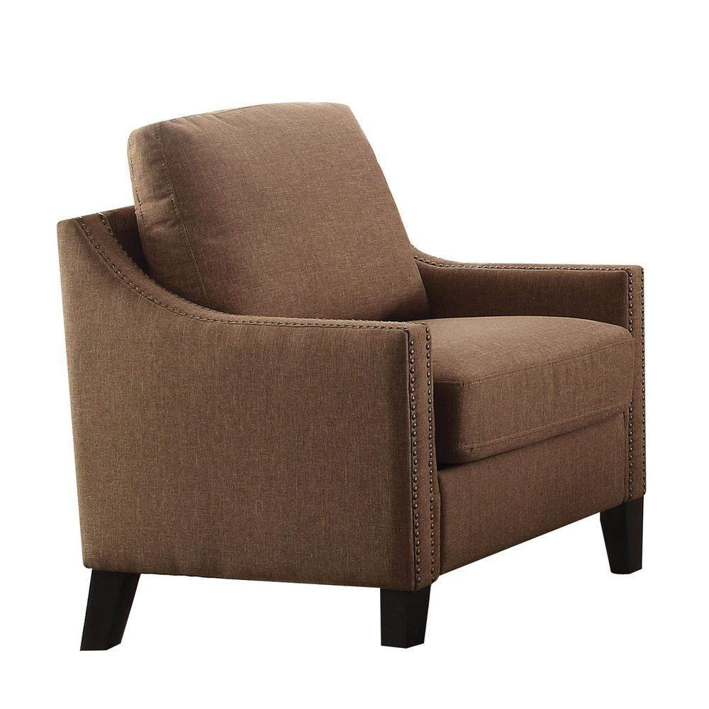 Zapata Chair, Brown Linen. Picture 6