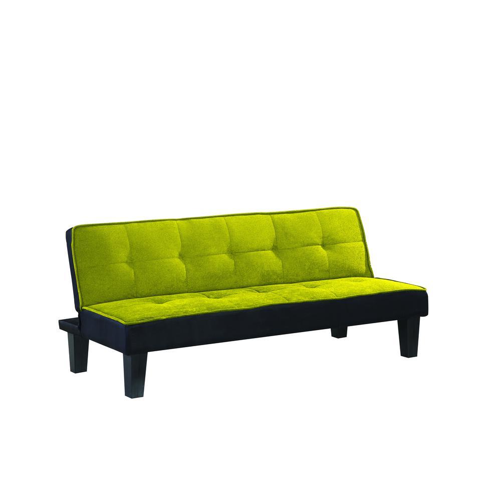 Hamar Adjustable Sofa, Green Flannel Fabric. Picture 10