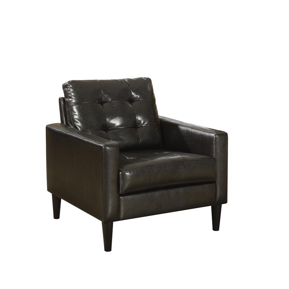 Balin Accent Chair, Espresso PU. Picture 2