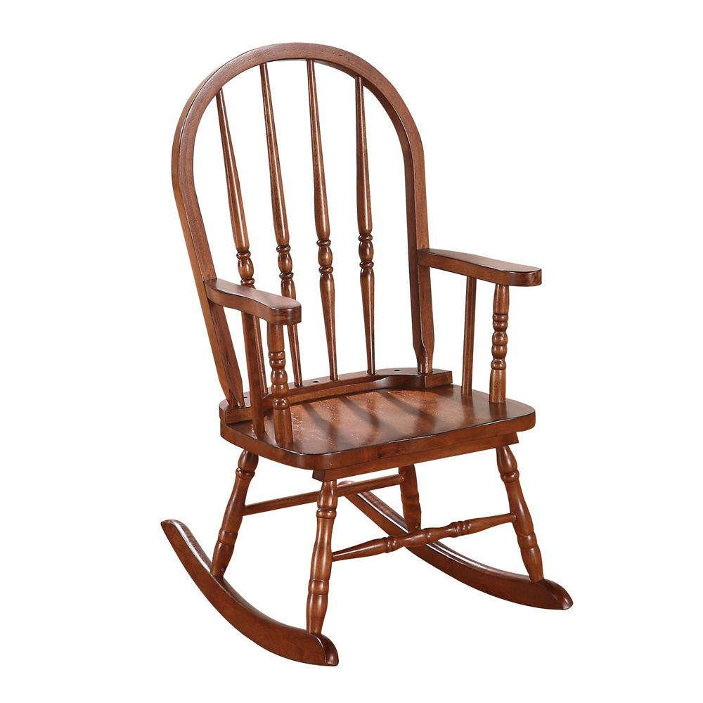 Kloris Youth Rocking Chair, Tobacco. Picture 1