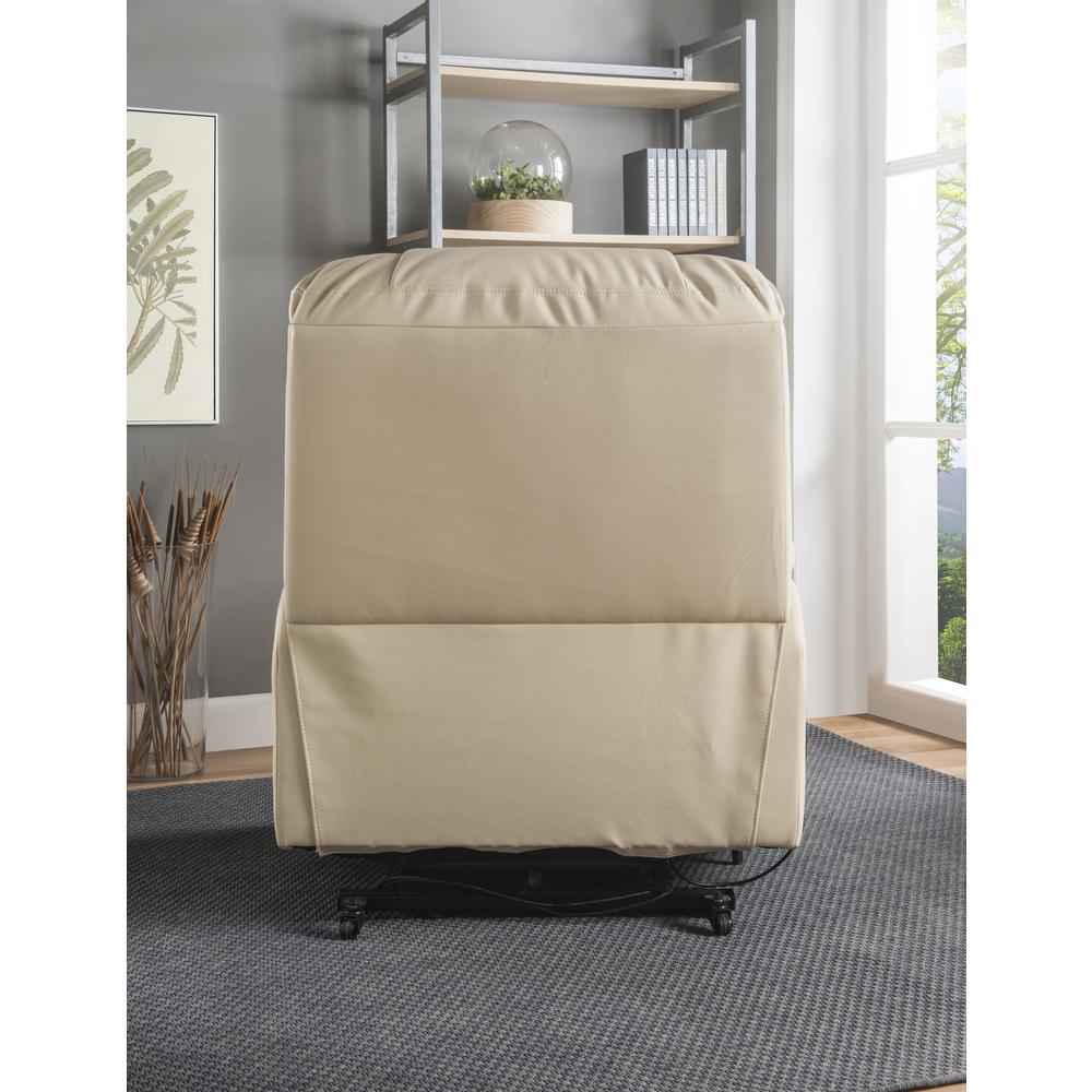 Ixora Recliner w/Power Lift & Massage, Beige PU. Picture 13