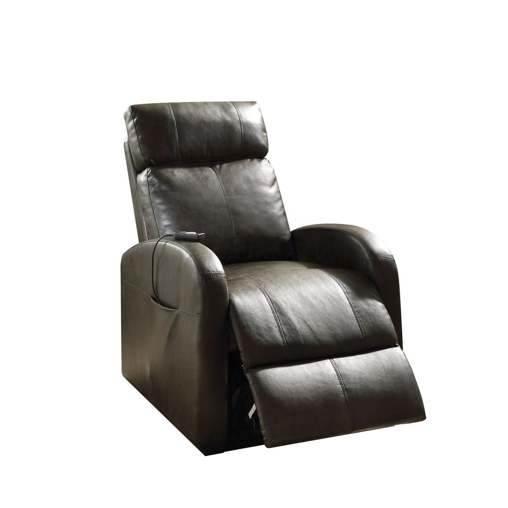 Ricardo Recliner w/Power Lift, Red PU. Picture 1