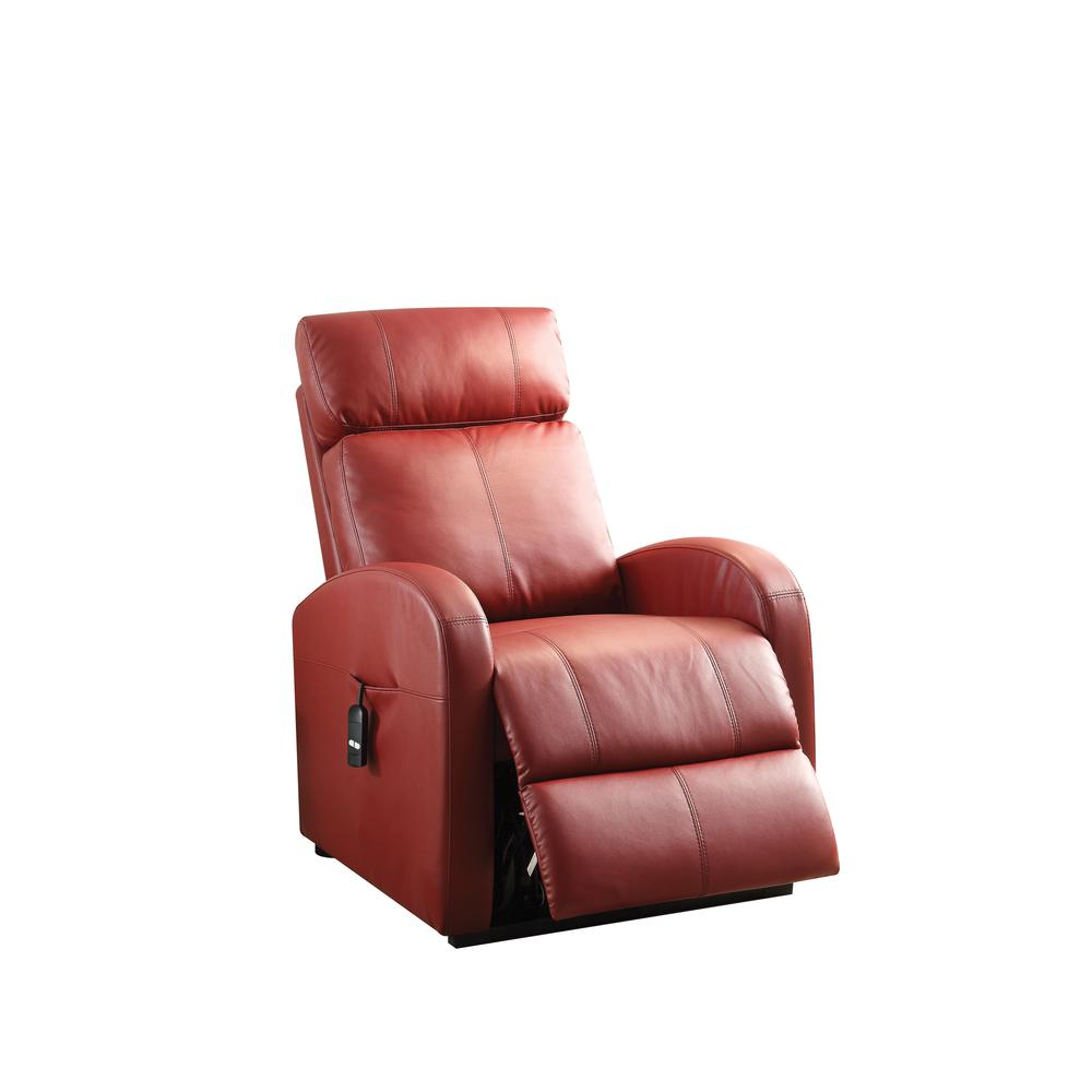 Ricardo Recliner w/Power Lift, Red PU. Picture 2