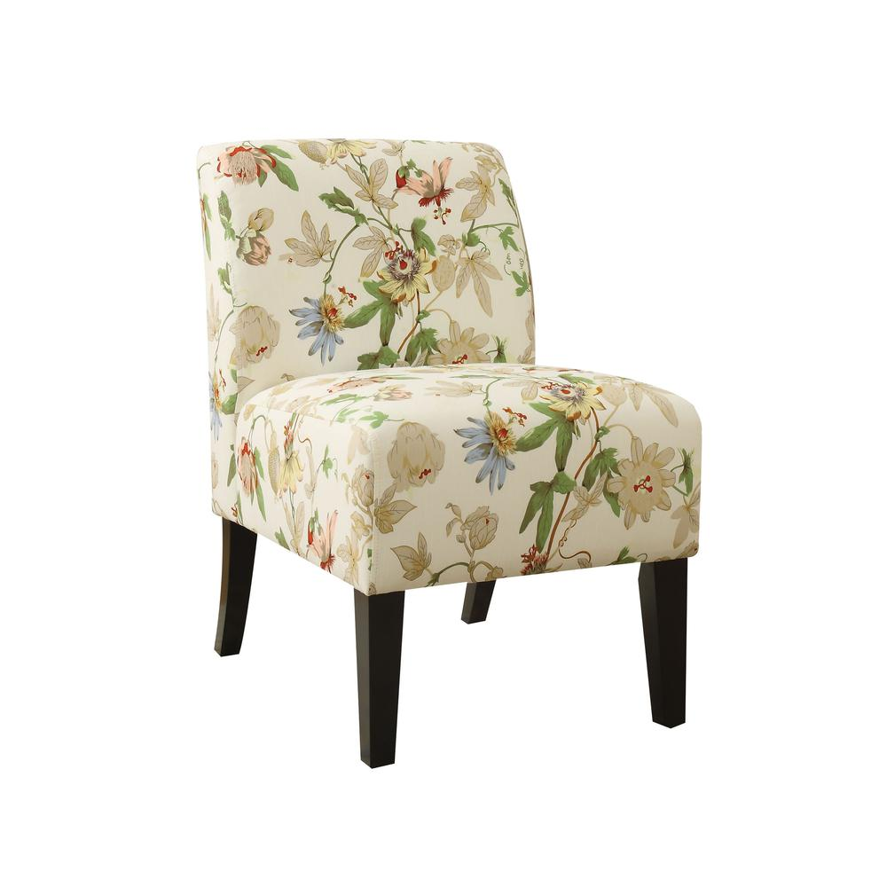 Ollano Accent Chair, Floral Fabric. Picture 3