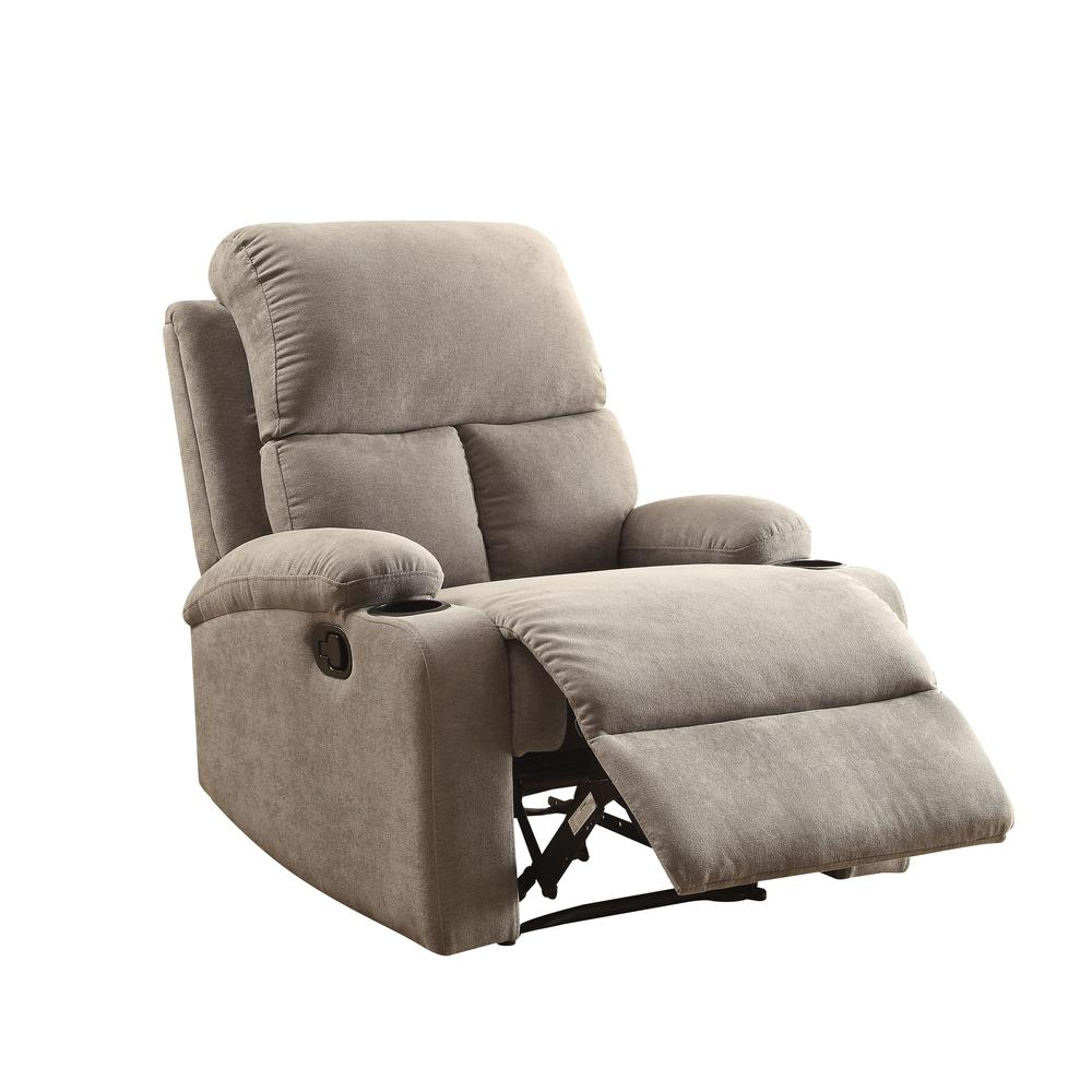 Rosia Recliner, Gray Velvet. Picture 1