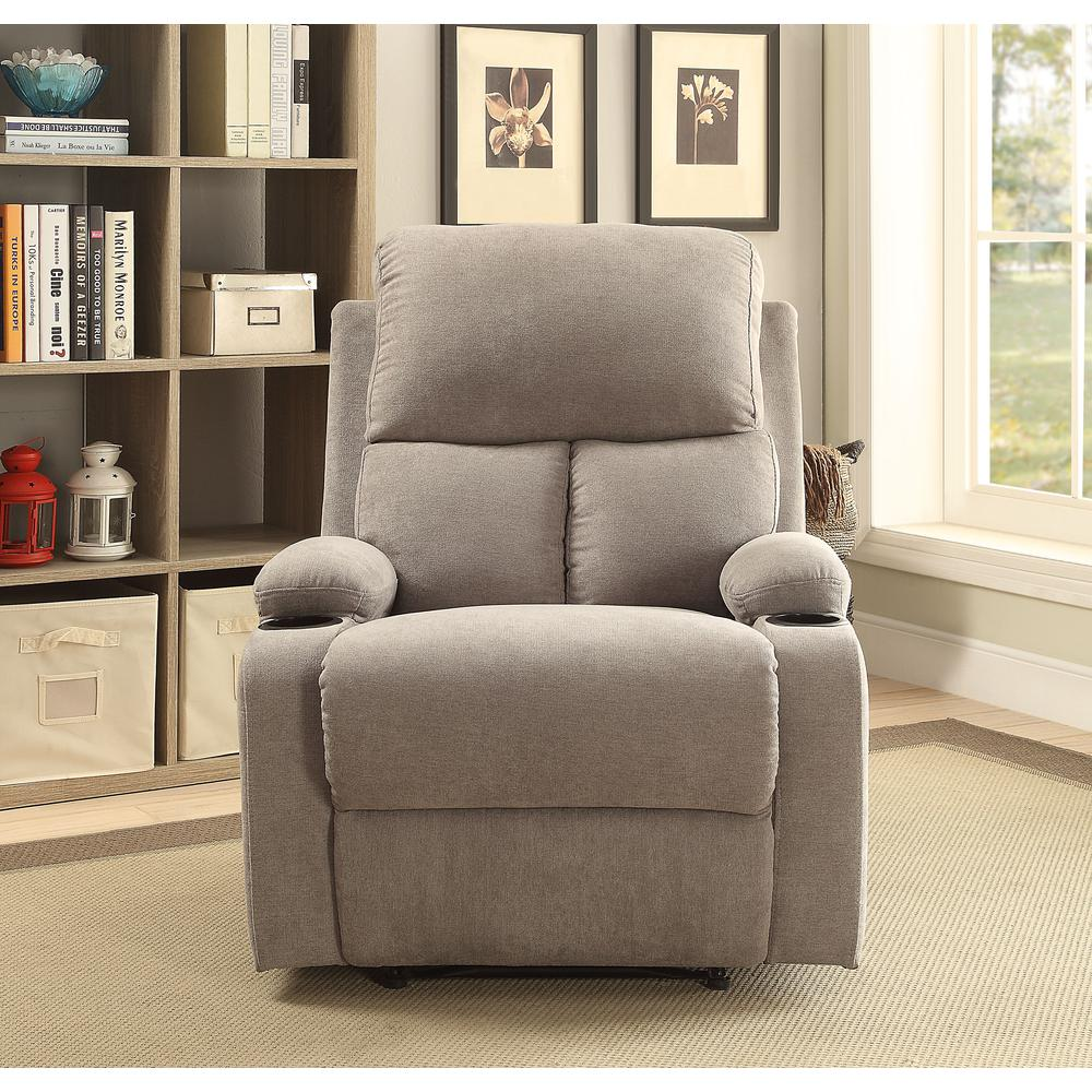 Rosia Recliner, Gray Velvet. Picture 3