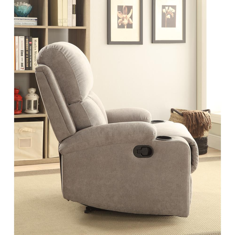 Rosia Recliner, Gray Velvet. Picture 4