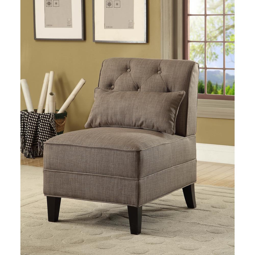 Susanna Accent Chair & Pillow, Blue Linen. Picture 13