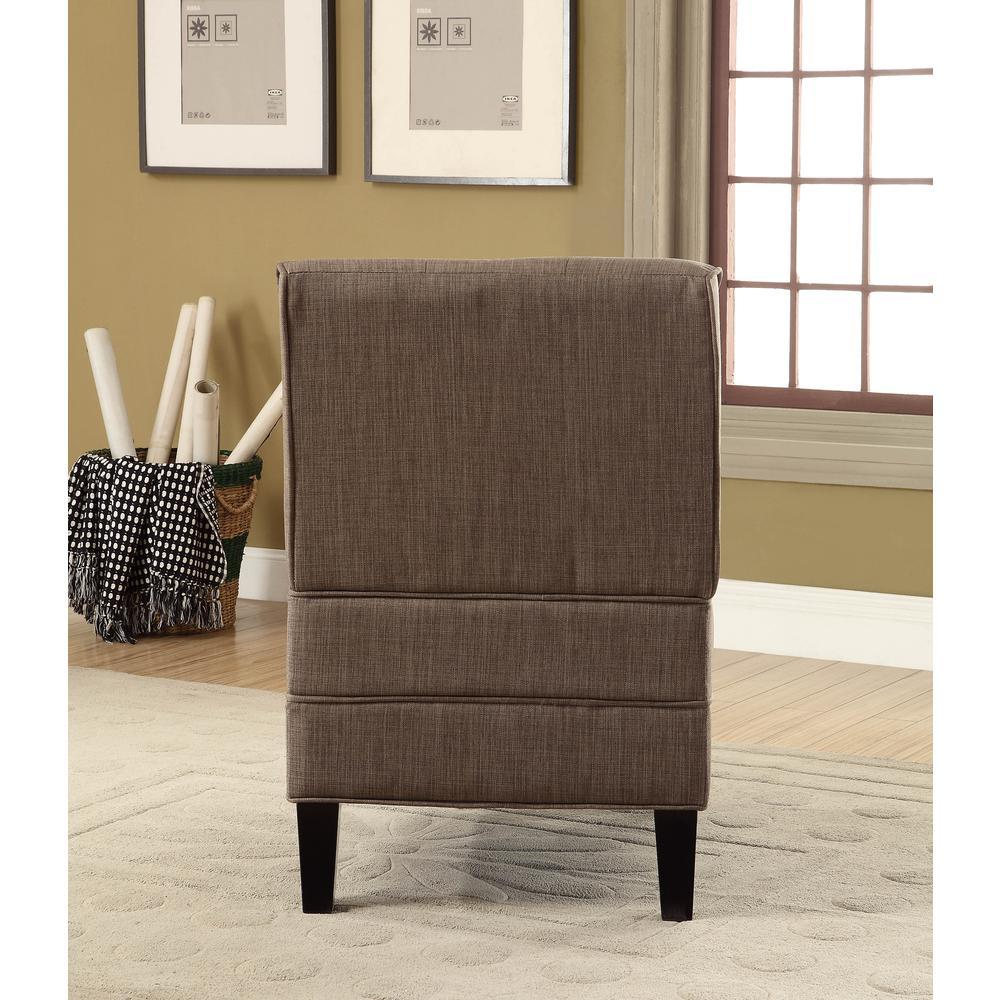 Susanna Accent Chair & Pillow, Blue Linen. Picture 14
