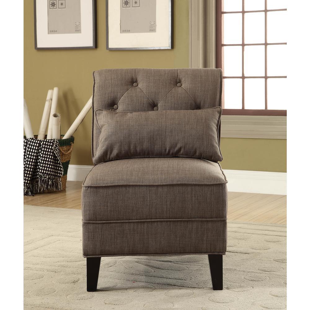 Susanna Accent Chair & Pillow, Blue Linen. Picture 15