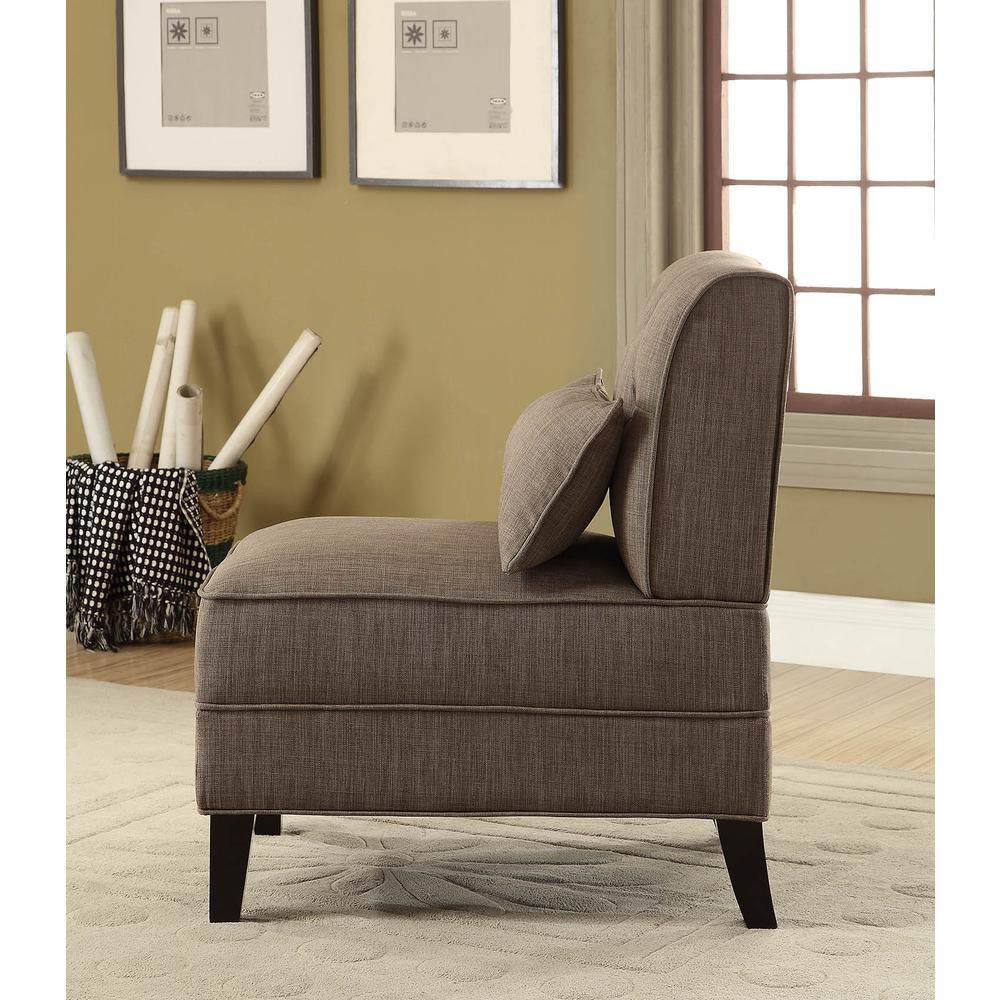 Susanna Accent Chair & Pillow, Blue Linen. Picture 16
