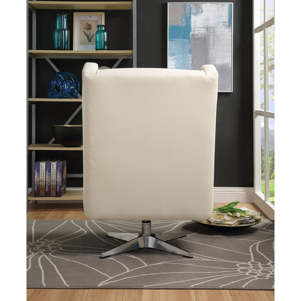 Eudora II Accent Chair, White Leather Gel. Picture 4