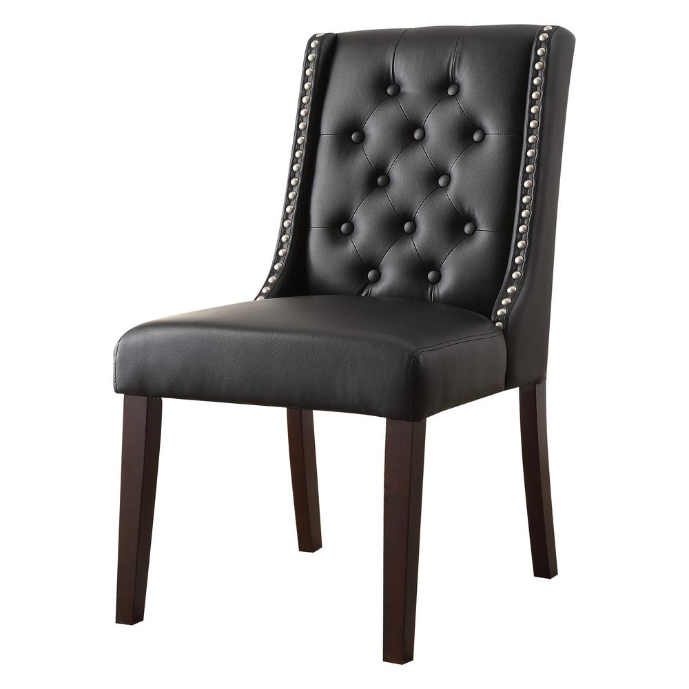 Brenda Side Chair (Set-2), Silver PU. Picture 1