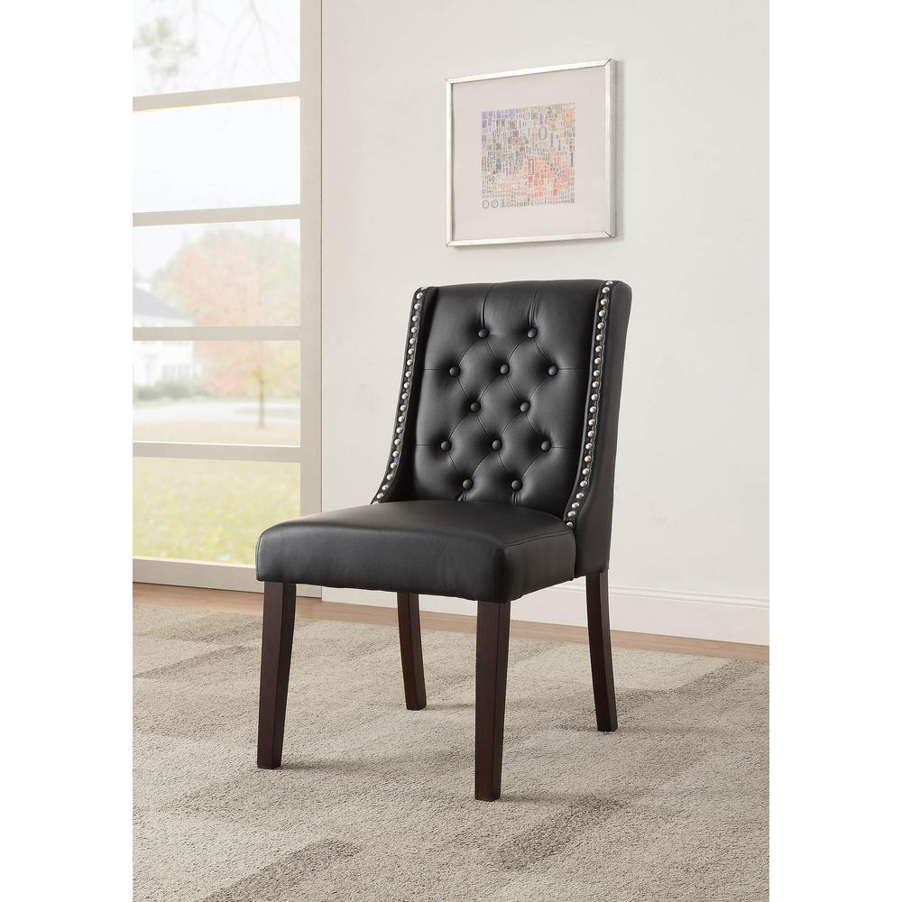 Brenda Side Chair (Set-2), Silver PU. Picture 2