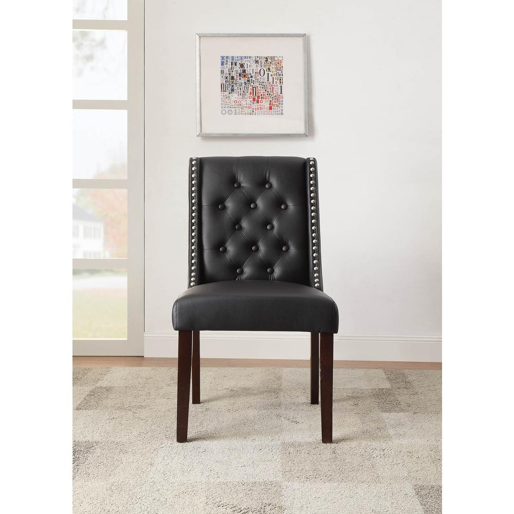 Brenda Side Chair (Set-2), Silver PU. Picture 4