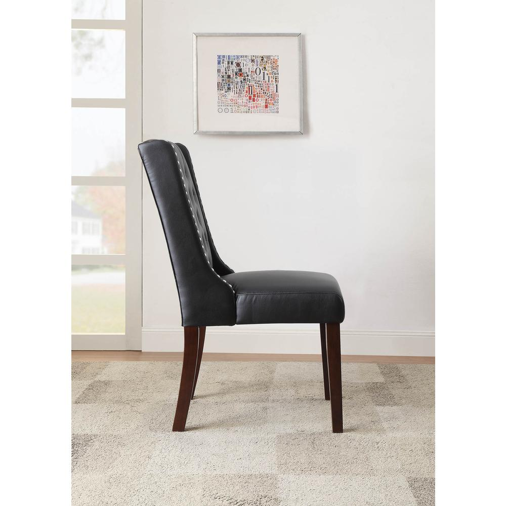 Brenda Side Chair (Set-2), Silver PU. Picture 6
