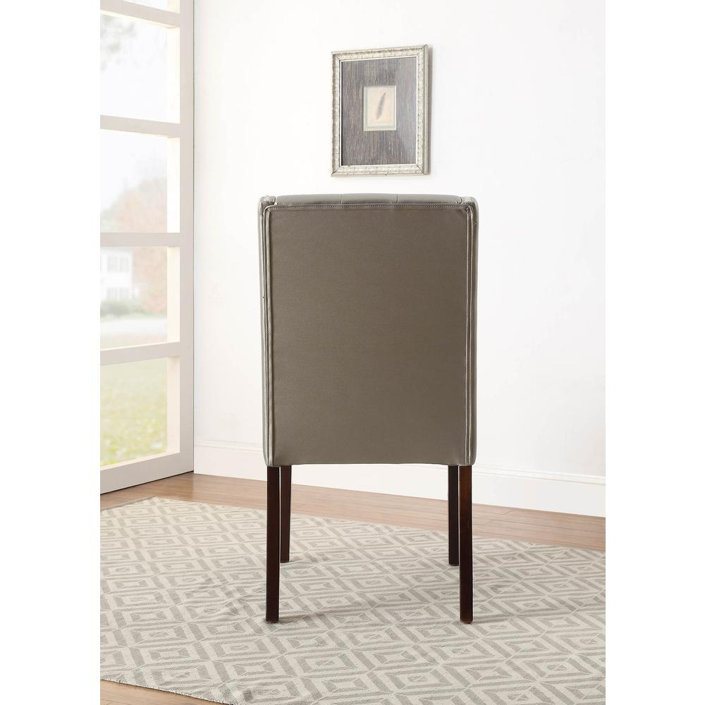 Brenda Side Chair (Set-2), Silver PU. Picture 9