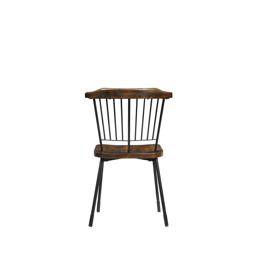 Orien Side Chair (Set-2), Black & Brown Oak. Picture 2