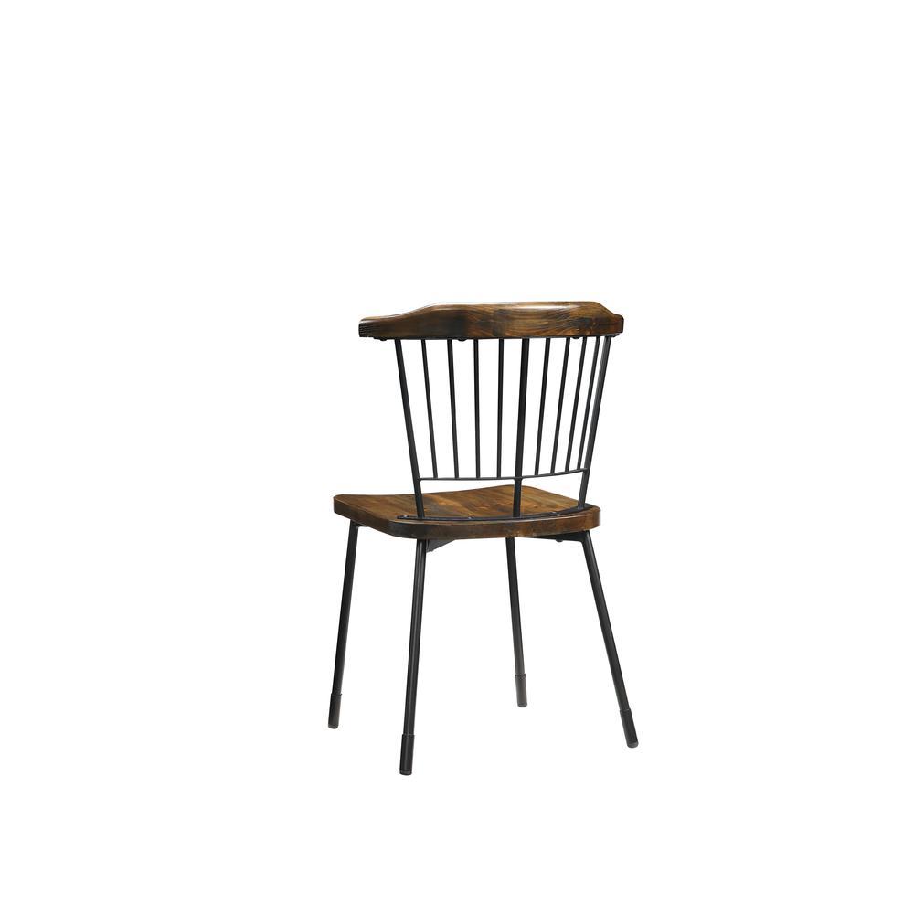 Orien Side Chair (Set-2), Black & Brown Oak. Picture 3